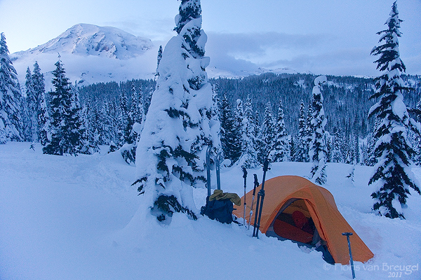 Winter Camp at Mt Rainier
