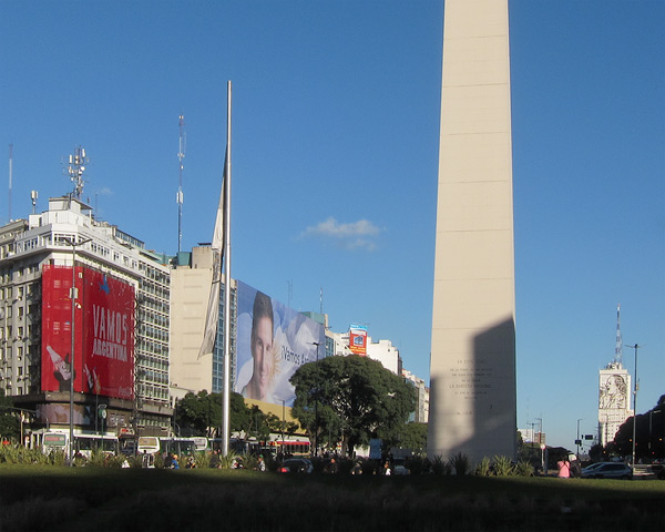 Buenos Aires: blue skies, big monuments, and Lionel Messi.