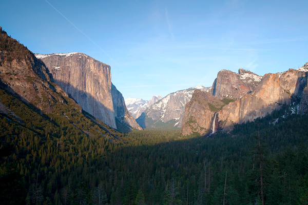 A unique and inspiring view of Yosemite Valley. Look at all that wilderness, most of it full of RVs.