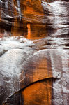 Sandstone Abstract and Snow, Zion National Park, Utah,