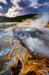 Punchbowl Springs, Yellowstone National Park, Wyoming, hot spring, bacterial mat, witches brew