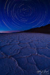 Badwater Star Trails, Death Valley National Park, California, geometry of motion, salt flats, stars, polaris, north star