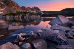 Sunrise over Island Lake, Rawah Wilderness, Colorado, peace in rawah