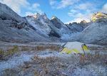 Tent in the Arrigetch Peaks, Brooks Range, Alaska