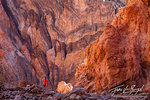 Canyon Hiker, Death Valley National Park, Colorful