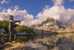 Fly Fishing, Thousand Island Lake, Sierra Nevada