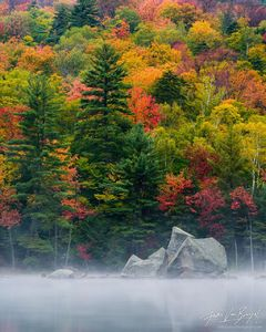 Pharaoh Lake Fall Color, Adirodacks, New York, nature's fireworks