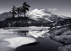 Mount Baker and Tarn, Cascades, Washington, baker's elegance, summer