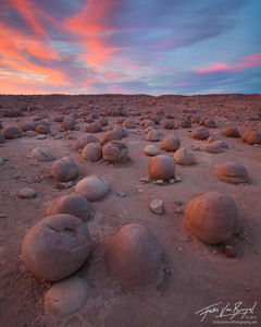 The Pumpkin Patch, Anza-Borrego State Park, California, mud concretion, desert, wash