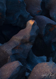 Fossil Falls Abstract, Owens Valley, California, a light in the dark, owen's valley, california, basalt, flash floods