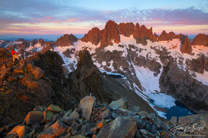 Minarets in Ansel Adams Wilderness, Sierra Nevada, California, the range of light, volcanic ridge