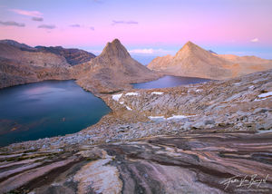 Royce Lakes - Peaks and Earth Shadow, Sierra Nevada, California, granite paradise, john muir wilderness