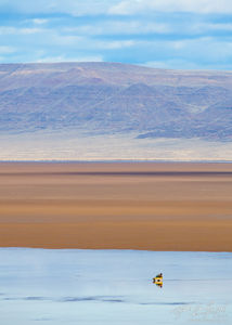 Lone Landrover on the Playa, Alvord Desert, Oregon