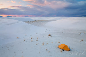 Tent Camping, White Sands National Monument, New Mexico, camp surreal, campsite,