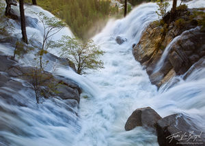 Spring Flood Cascade Creek, Yosemite National Park, California, spring melt,