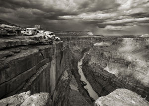 Black and White Monsoon at Toroweap, Grand Canyon National Park, Arizona, grand monsoon, tuweep