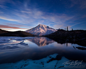 Moonrise on Rainier, Alpen Glow, Climb