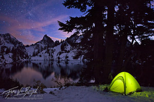 Cascades, Camping under the Stars, Winter