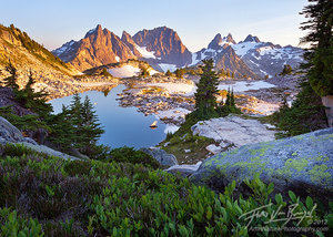 Alpine Lake and Mountains, Cascade Mountains, Washington