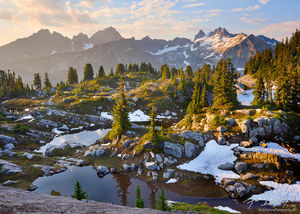 Cascade Alpine Lake Basin, Alpine Lakes Wilderness, Washington