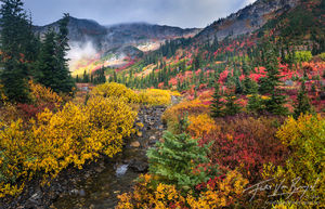 Cascades, Fall, Mountains