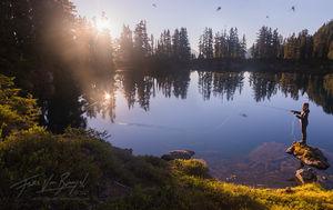 Fly Fishing, Cascades, Alpine Lake