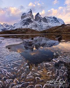 Icy Cuernos del Paine, Torres del Paine, Chile