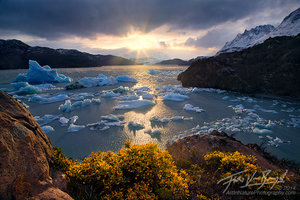 Warm Sun and Icebergs, Lago Grey, Torres del Paine