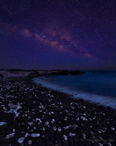Milky Way, Maui, Hawaii, beach