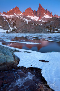 Minarets in Sierra Nevada, Ansel Adams Wilderness, California, frozen, minaret lake