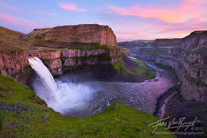 Palouse Falls Sunset, Washington, sunset, scablands, snake river
