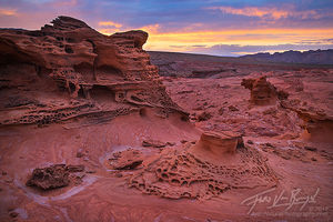 Ancient Sandstone, Nevada, Sunset