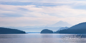 Mount Baker and San Juan Islands, Lopez Island, Washington