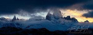 Stormy Fitz Roy, Patagonia Skyline, Panorama