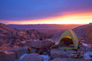 Summit Camp, Tent in the Sierra, California