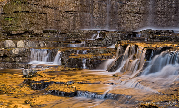 Cascadilla Gorge Waterfall near Cornell University, Ithaca - Fingerlakes, New York,, photo
