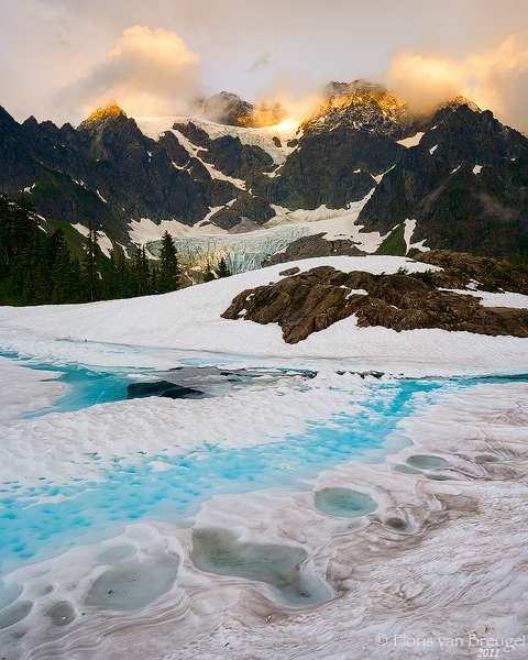Mount Shuskan from Frozen Lake Ann, Cascades, Washington, photo