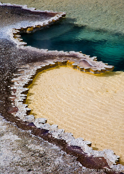 Hot Lace Hot Spring, Yellowstone National Park, Wyoming, photo