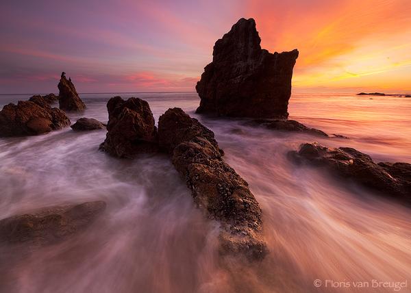 El Matador Sunset, Malibu, California, salty watercolors, malibu, photo