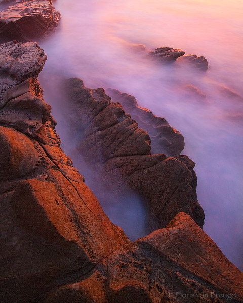 Secrets of the Sea, Laguna Beach, California, sunset, waves, long exposure, photo