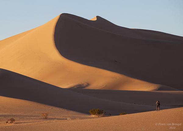 Photographer in the Dunes, Death Valley National Park, California, michael gordon, ibex dunes, photo