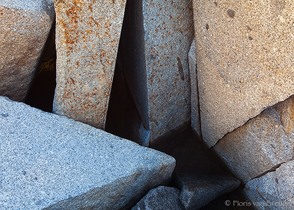 Granite Boulderpile, Kings Canyon National Park, California, dusy basin, sierra, talus, photo