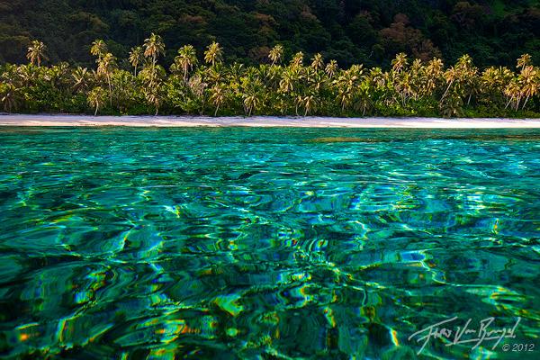 Tropical lagoon in samoa