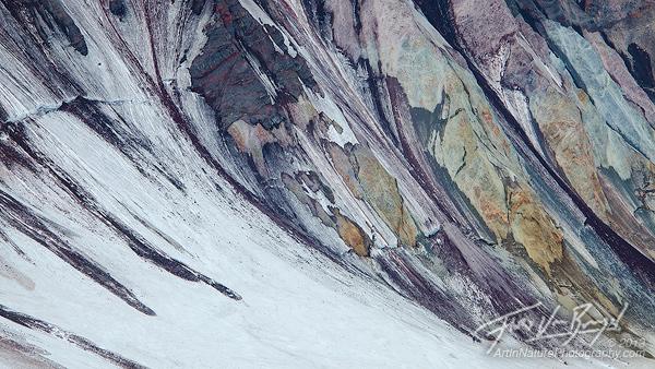 Mt St Helens, Colorful Rock, Washington