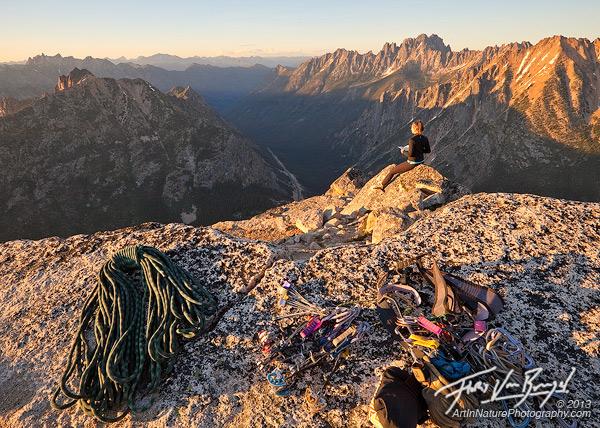 Alpine Climbing, Liberty Bell, Washington Cascades