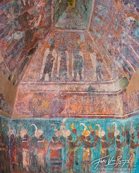 Bonampak murals maya ruins chiapas for Bonampak mural painting