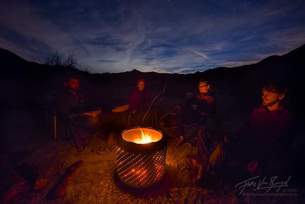 Desert Campfire, Anza-Borrego, California