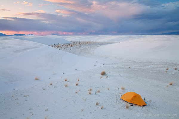 Tent Camping, White Sands National Monument, New Mexico, camp surreal, campsite, , photo
