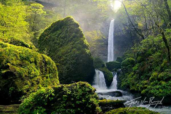 Sunshine Elowah Falls, Columbia River Gorge, Oregon