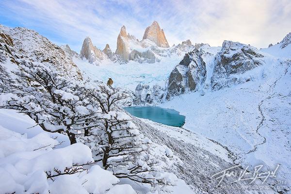 Snowy Fitz Roy, Patagonia, El Chalten